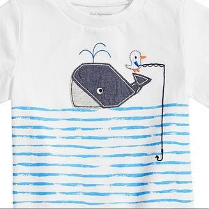 First Impressions Shirts & Tops - NWT First Impressions Whale Graphic T-Shirt 12mo
